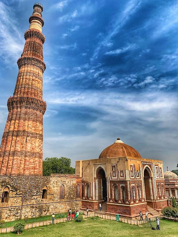 Popular tourist site Qutub Minar Complex in New Delhi