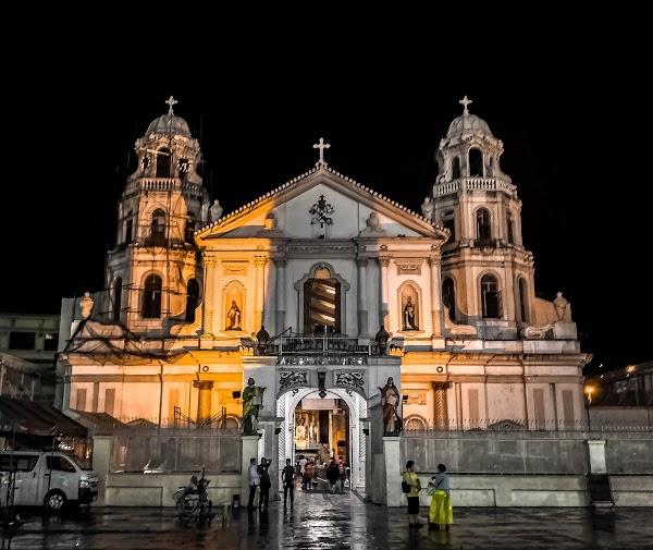 Popular tourist site Minor Basilica of the Black Nazarene in Manila