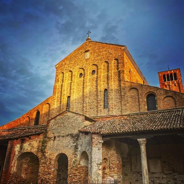 Popular tourist site Torcello Basilica in Venice
