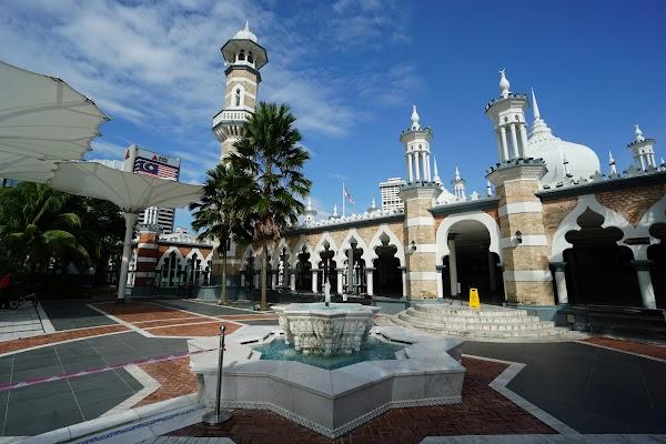 Popular tourist site Masjid Jamek of Kuala Lumpur in Kuala Lumpur
