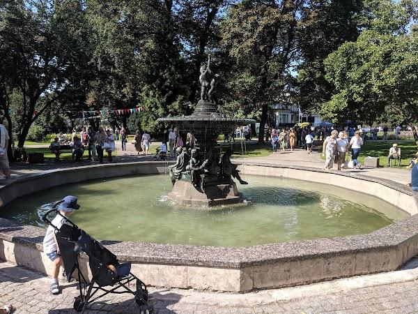 Popular tourist site Vērmane Garden in Riga
