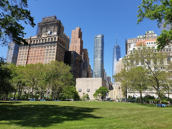 Popular tourist site Battery Park in New York