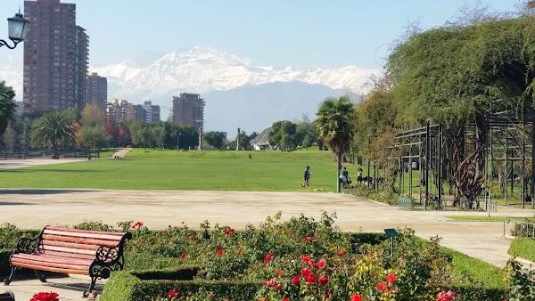 Popular tourist site Araucano Park in Santiago