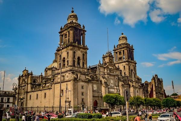 Popular tourist site Mexico City Metropolitan Cathedral in Mexico City