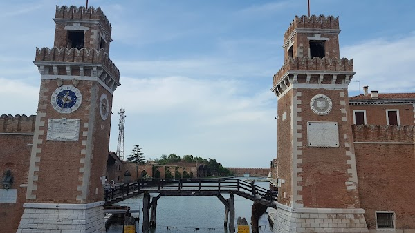 Popular tourist site Venetian Arsenal in Venice