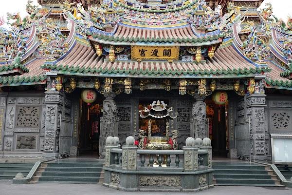 Popular tourist site Guandu Temple in Taipei
