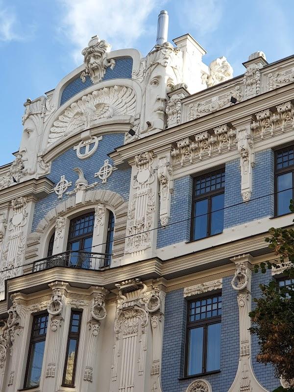 Popular tourist site Art Nouveau building in Riga