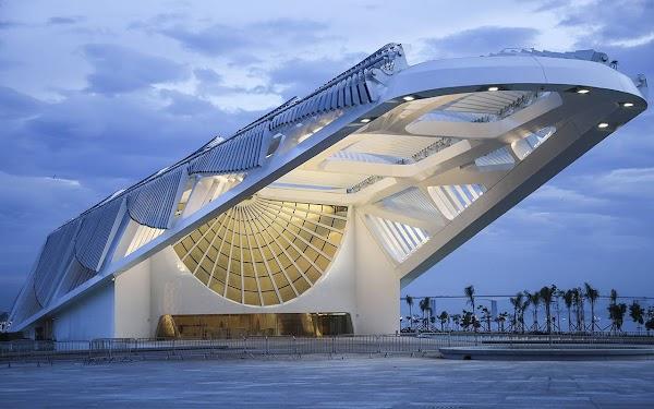 Popular tourist site Museu do Amanhã in Rio de Janeiro