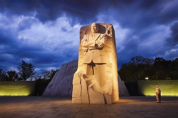 Popular tourist site Martin Luther King, Jr. Memorial in Washington D.C.