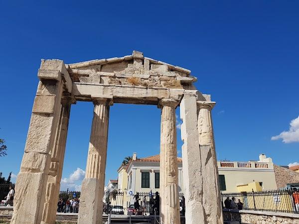 Popular tourist site Roman Agora in Athens