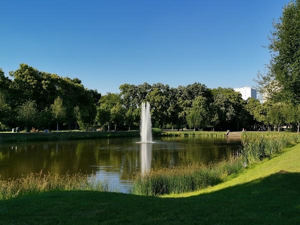 Popular tourist site Clara-Zetkin Park in Leipzig