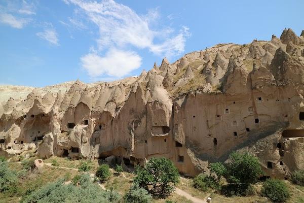 Popular tourist site Zelve Open Air Museum in Cappadocia