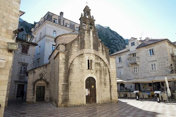 Popular tourist site Црква Светог Луке - Orthodox Church in Kotor