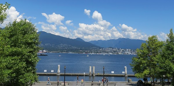 Popular tourist site Vancouver Seawall in Vancouver