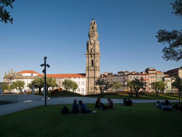 Popular tourist site Clérigos Tower in Porto
