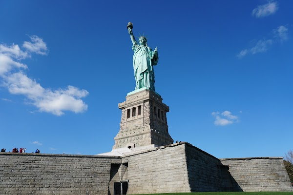 Popular tourist site Statue of Liberty National Monument in New York