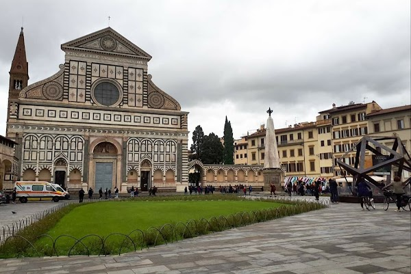 Popular tourist site Basilica of Santa Maria Novella in Florence