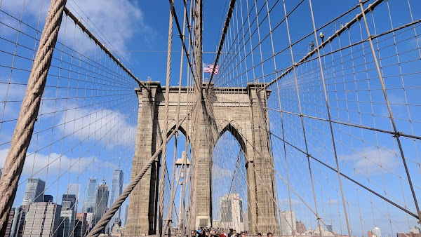 Popular tourist site Brooklyn Bridge in New York