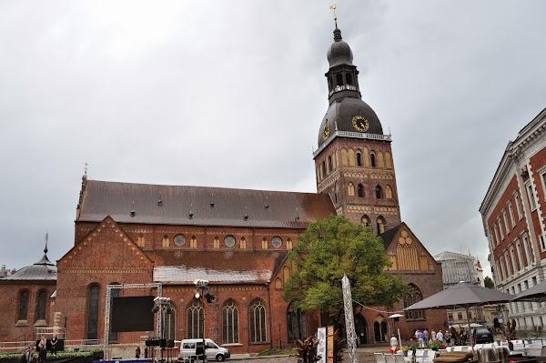 Popular tourist site Riga Cathedral in Riga