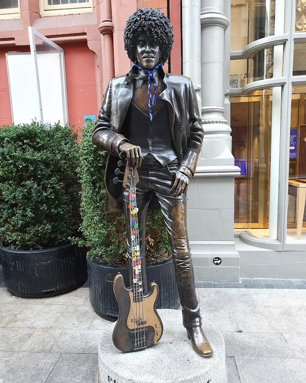 Popular tourist site Phil Lynott Statue in Dublin