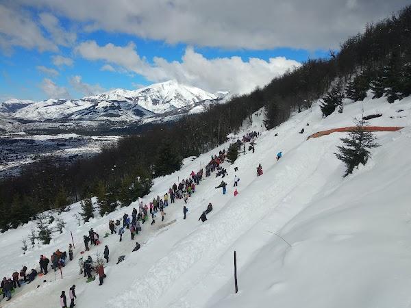 Popular tourist site Piedras Blancas in Bariloche