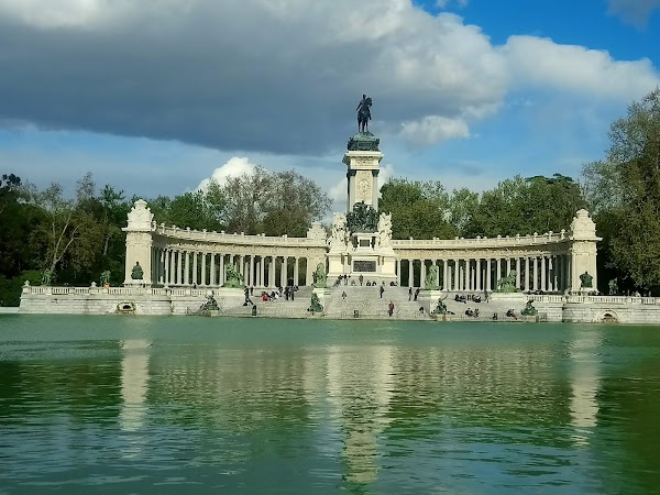 Popular tourist site El Retiro Park in Madrid