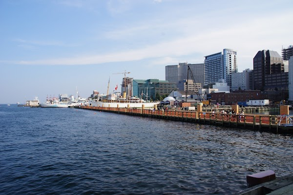 Popular tourist site Halifax Waterfront in Halifax