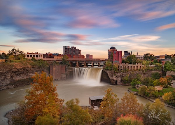Popular tourist site High Falls in Rochester