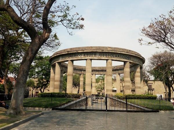 Popular tourist site Rotonda de los Jaliscienses Ilustres in Guadalajara