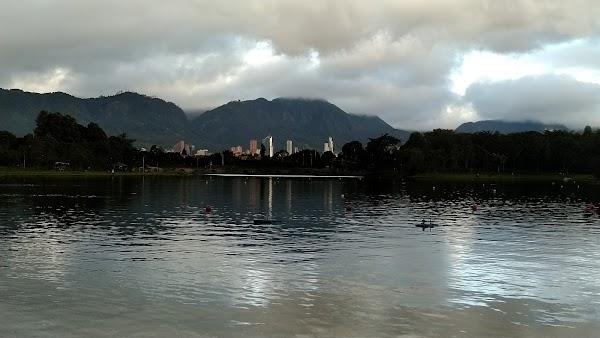 Popular tourist site Simón Bolívar Metropolitan Park in Bogota