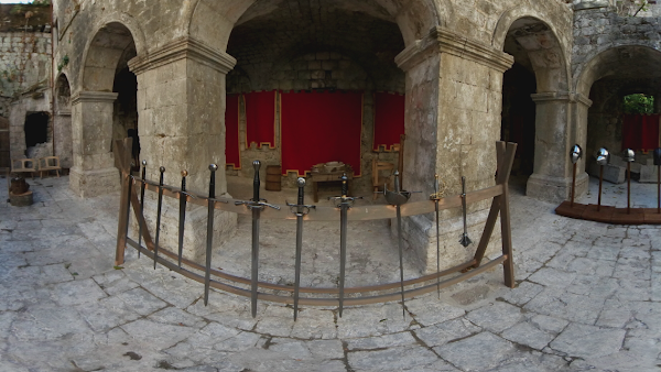 Popular tourist site The Palace of Living History in Kotor