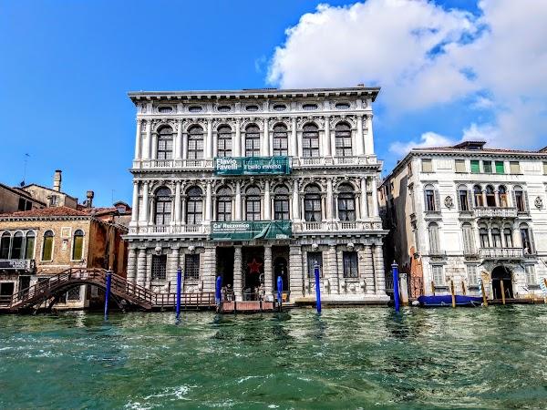 Popular tourist site Ca' Rezzonico in Venice