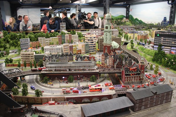 Popular tourist site Miniatur Wunderland in Hamburg