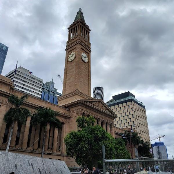 Popular tourist site Brisbane City Hall in Brisbane City