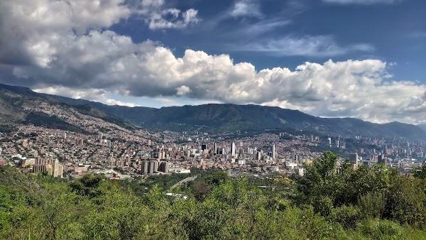 Popular tourist site Cerro El Volador Natural Park in Medellin