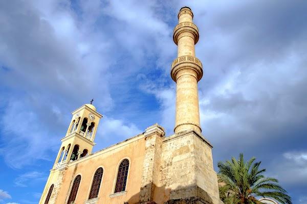 Popular tourist site Church of Agios Nikolaos in Chania