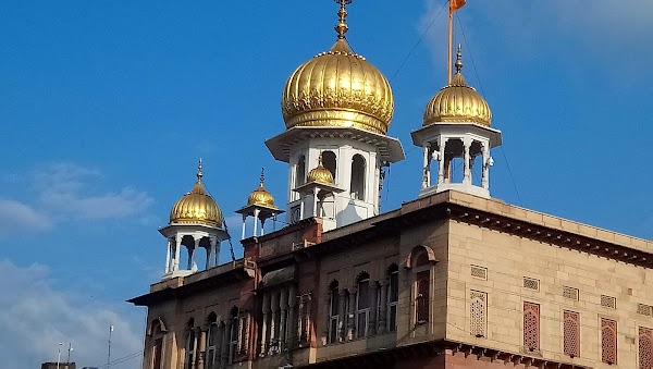 Popular tourist site Gurudwara Sis Ganj Sahib ji in New Delhi