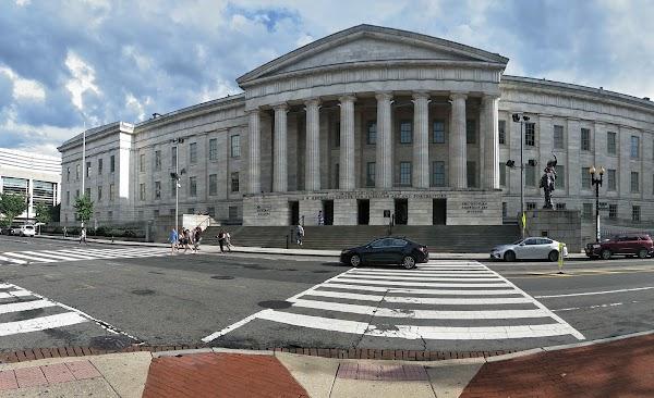 Popular tourist site National Portrait Gallery in Washington D.C.