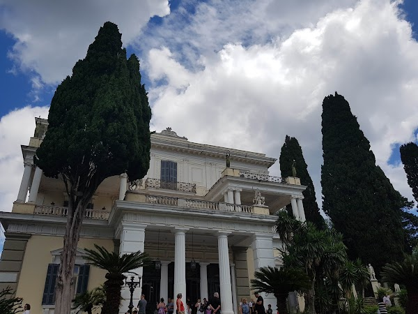 Popular tourist site Achilleion in Corfu