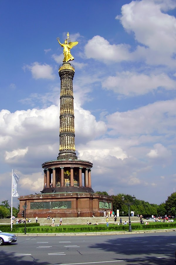 Popular tourist site Victory Column in Berlin