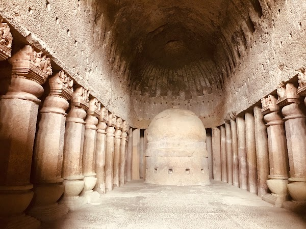 Popular tourist site Kanheri Caves in Mumbai