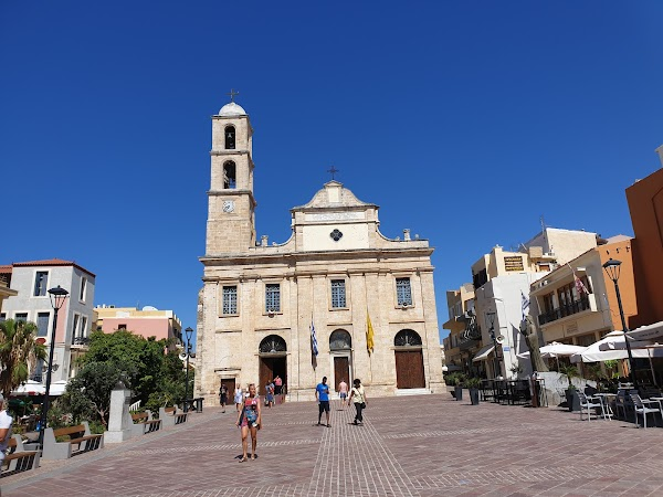 Popular tourist site Cathedral of Saint Mary of the Assumptio in Chania