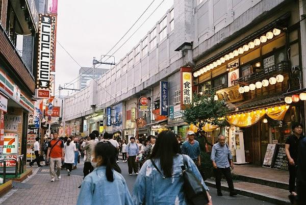 Popular tourist site Ameyayokocho Market in Tokyo
