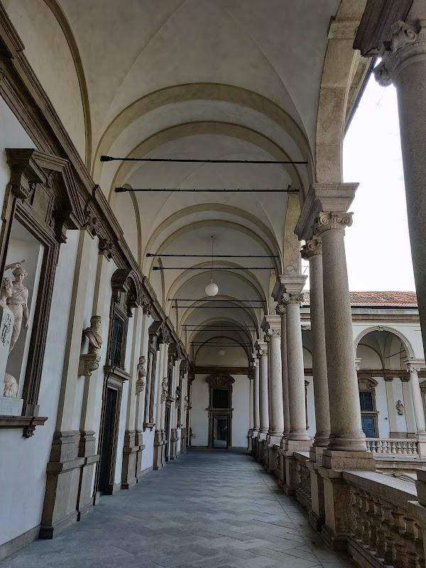 Popular tourist site Pinacoteca di Brera in Milano