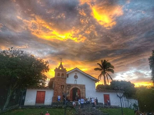 Popular tourist site Church of San Antonio in Cali