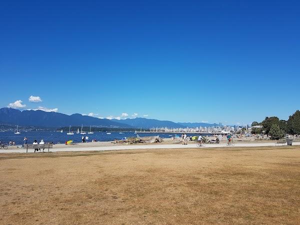 Popular tourist site Jericho Beach Park in Vancouver