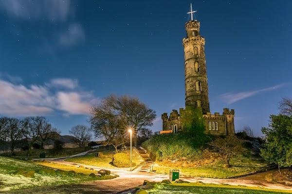 Popular tourist site Nelson Monument in Edinburgh