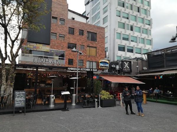 Popular tourist site Plaza Foch in Quito