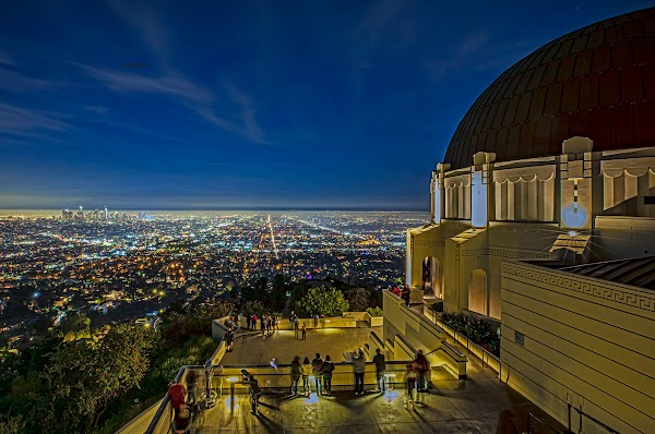 Popular tourist site Griffith Observatory in Los Angeles