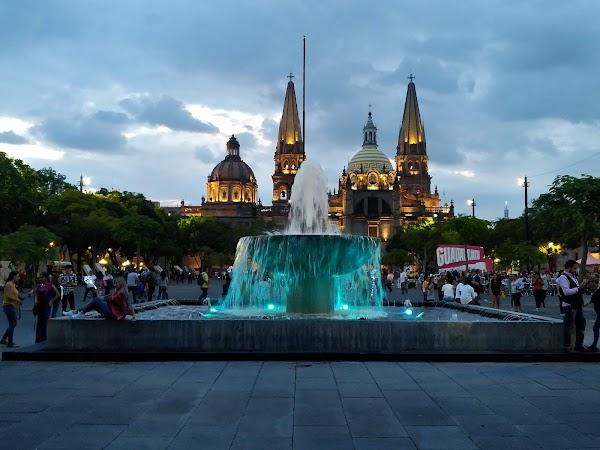 Popular tourist site Liberation Square in Guadalajara